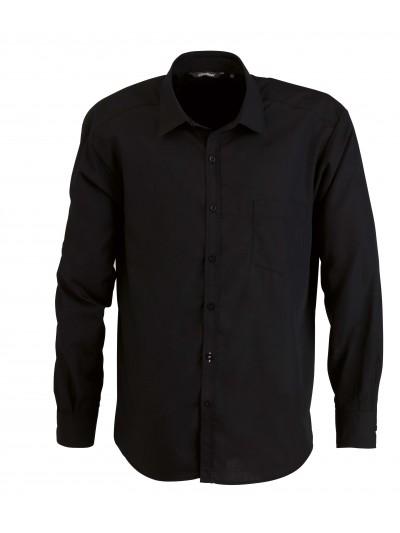 Chemise de serveur noir manches longue