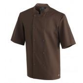 Veste de cuisine Brown manches courtes