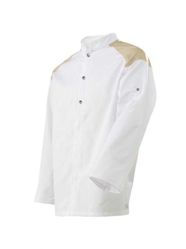 Veste de cuisine Brigad blanc sable blanc
