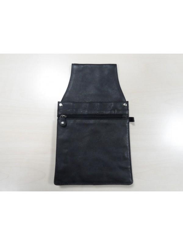 Sacoche amovible en cuir avec fermeture éclair pour serveur