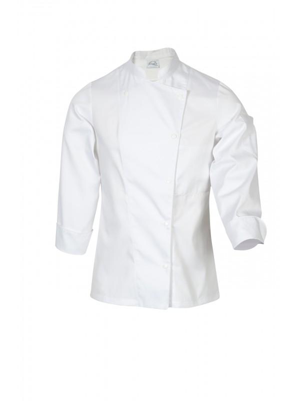 Veste de cuisine femme manches longue blanche