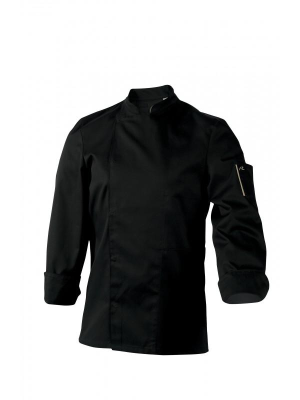 Veste de cuisine manches longue Nero noir