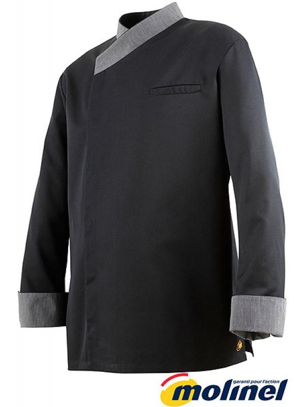 Veste de cuisine noir Exalt's